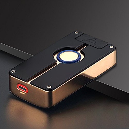 Oumosi batterie en métal Arc sans flamme Briquet avec USB Ligne pour Home