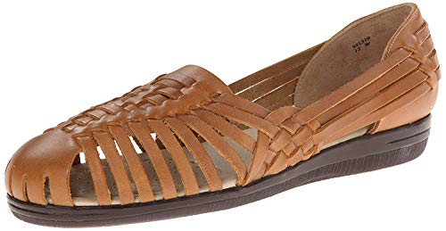 softspots Womens Trinidad Leather Closed Toe Loafers, Natural, Size 9.0 -