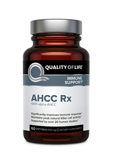 Premium AHCC Immune Support Supplement - Natural Mushroom Extract - Quality of Life AHCC Rx-60 Softgels