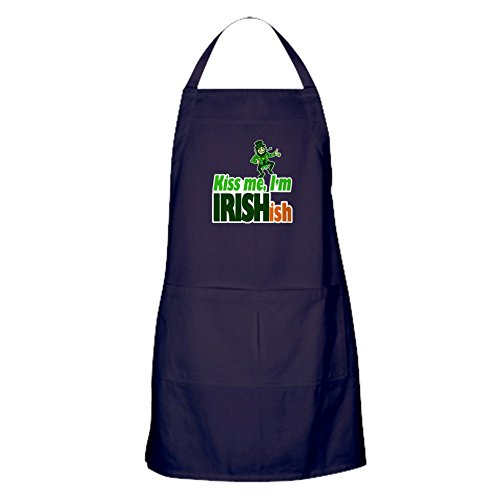 CafePress Kiss Me I'm Irish-Ish Apron (Dark) Kitchen Apron with Pockets, Grilling Apron, Baking Apron