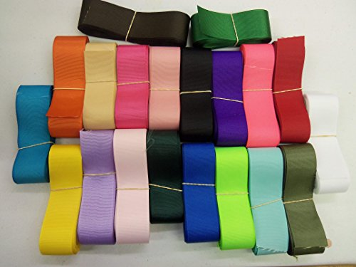 "1.5""Grosgrain Ribbon-125 yards Solid Color-25 colors, 5 yards each color-ONLY 27 cents per yard-by All the Makings"