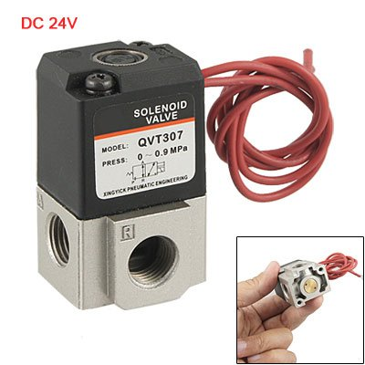 "DC 24V Three Way Two Position 1/4"" NPT Solenoid Valve from Amico"