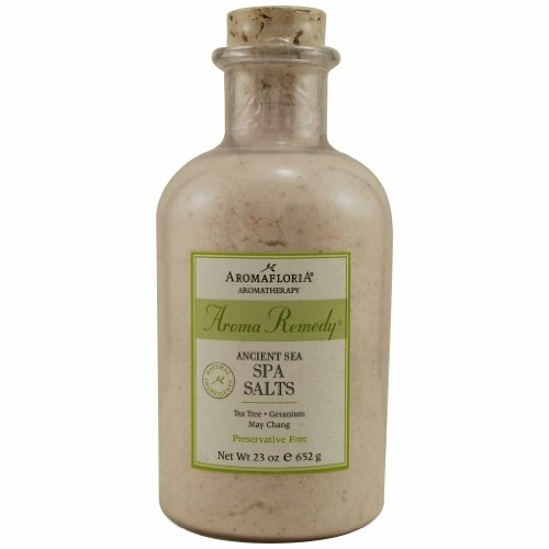 AROMA REMEDY by Aromafloria ANCIENT SEA SPA SALTS 23 OZ BLEND OF TEA TREE, GERANIUM, AND MAY CHANG