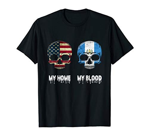 My Home my Blood Guatemala Flag T-Shirt Guatemalan Gift Tee