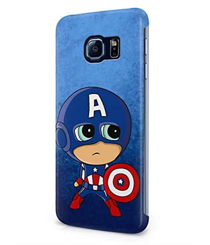 Chibi Captain America The Avengers Plastic Snap-On Case Cover Shell For Samsung Galaxy S6 EDGE