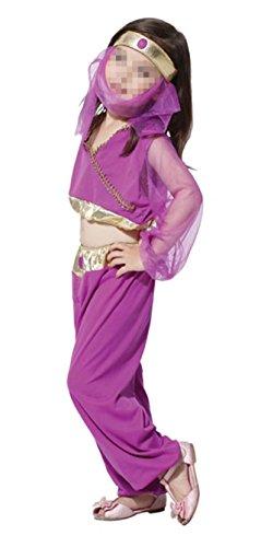 Betusline Kids Girls Halloween Dancer Arabian Nights Fancy Dress Costume (Mens Arabian Nights Costumes)