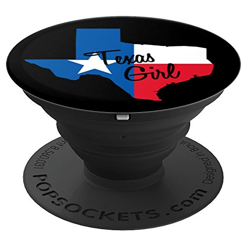 Texas A&m University Pedestal - Texas Girl Lone Star Texas State Flag Design Red White Blue - PopSockets Grip and Stand for Phones and Tablets