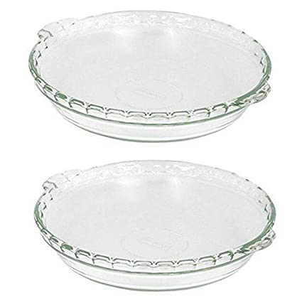 2 X Pyrex Bakeware 9-1/2-Inch Scalloped Pie Plate Clear  sc 1 st  Amazon.com & Amazon.com: 2 X Pyrex Bakeware 9-1/2-Inch Scalloped Pie Plate Clear ...