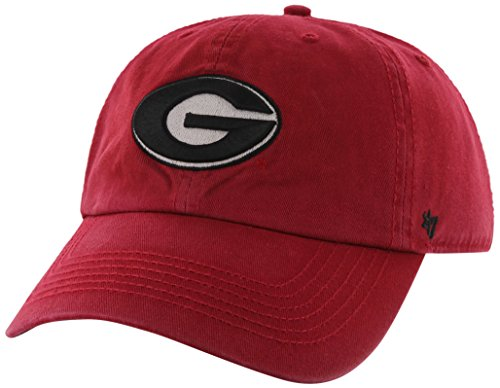 '47 NCAA Georgia Bulldogs Brand Clean Up Adjustable Hat, Red 1, One Size