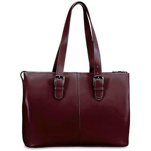 - Jack Georges Milano Collection Madison Avenue Laptop Tote (Cherry)