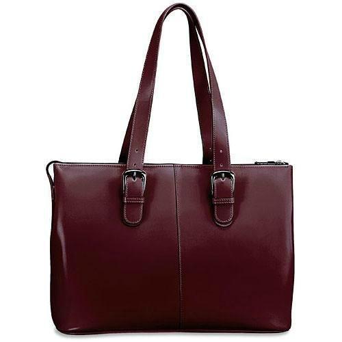 Wholesale Luxury Designer Handbags - Jack Georges Milano Collection Madison Avenue Laptop Tote (Cherry)