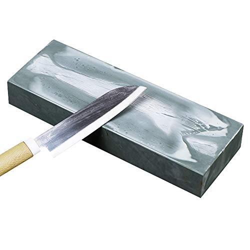Huanlemai Premium Nature Knife Sharpening Stones 3000 Grit Whetstone - Ultra-fine Raw Bluestone Mortar Waterstone Natural Knives Sharpener for Kitchen, Hunting and Pocket Knives or Blades