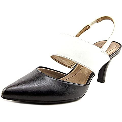 Life Stride Sonya Women US 8 Black Slingback Heel