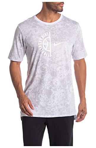 Nike Men's Dri-Fit Swoosh Arch Basketball Tee-White-Large