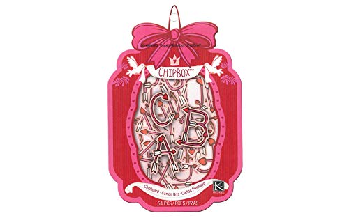K&Company Alphabet Storage Chip Box for Scrapbooking, Cupid by K&Company (Image #1)