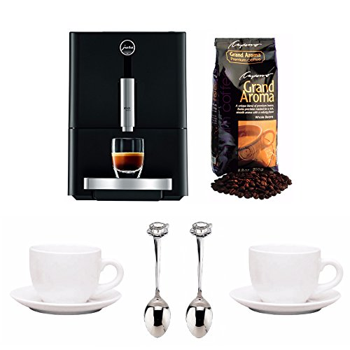 Jura 13626-CAP ENA Micro 1 Fully Automatic Coffee Maker + Free Coffee Beans, Tiara Cups and Demi Spoons