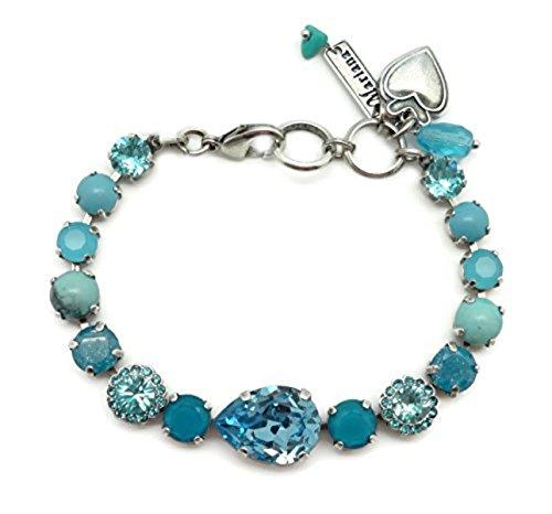 Mariana Silver Plated Swarovski Crystal Bracelet Aqua & Caribbean Blue Mix M1082 Zambezi by Mariana