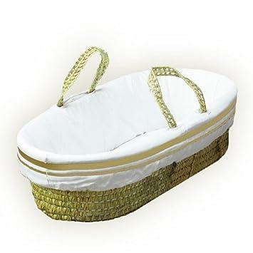 BabyDoll Hotel Style II Moses Basket Set, Ecru 5675mb