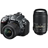 Nikon DSLR camera D5300 double zoom kit gray 24 million pixels 3.2-inch LCD D5300WZGY [International Version, No Warranty]