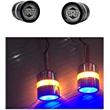 Aow Attractive Offer World Handle Bar End Dual Led Bike Turn Signal Indicator Light (Blue) For Royal Enfield Classic