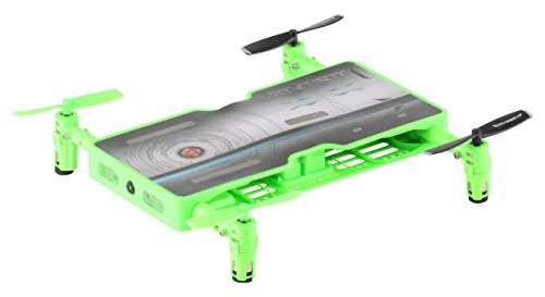 ODYSSEY Toys Airplanes Ody-1716NX Real Drone That Takes HD Video and Pictures. Fold Out Motors Makes It the Same Size As a Smartphone-So It Really Does Fit in Your Pocket, Green, 5.52.8.6 Review