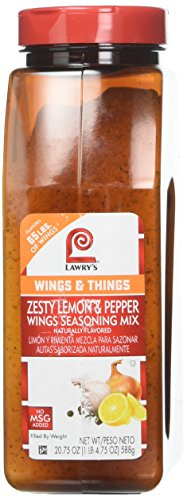 Lawry's Zesty Lemon and Pepper Wings Seasoning Mix, 20.75 Ounce