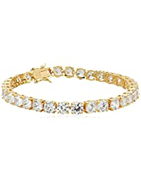 Sterling Silver and Round-Cut Cubic Zirconia Tennis Bracelet