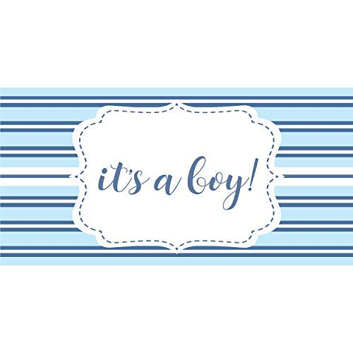 - HALF PRICE BANNERS   It's A Boy Vinyl Banner   Mesh Wind Reistant   3'x6' Blue Stripe   Free Ball Bungees & Zip Ties   Easy Hang Advertising Sign   Baby Shower Decoartion   Various Sizes   Made in USA