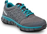 Reebok Sublite Women's Grey/Turquoise Soft Toe Slip Resistant Athletic