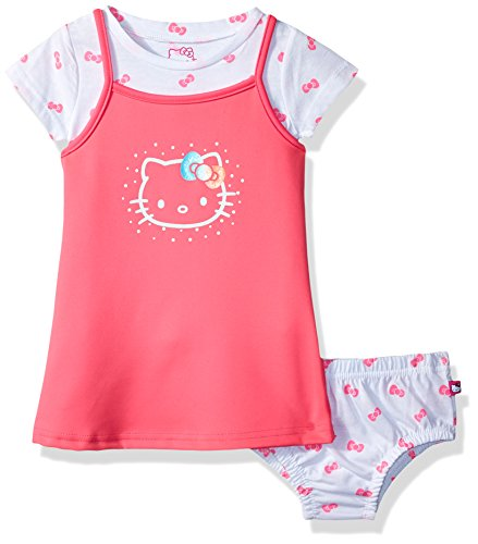 Hello Kitty Baby Girls 2 Piece Dress Set with Printed Tee, Pink, 12M