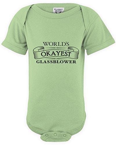 shirtloco Baby Worlds Okayest Glassblower Onesie Bodysuit, Key Lime Newborn