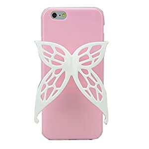 """TFS iPhone 6 4.7"""" Case ,iphone 6 cover ,Cute Angel Wings TPU Hybrid Case Hot High Impact Bow Cover for Apple Iphone 6 4.7inch (Pink)"""
