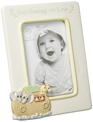 Moments Frame - Precious Moments Overflowing with Love Noah's Ark Ceramic 4x6 Nursery Décor Photo Frame 173431
