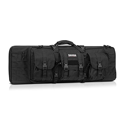 [Savior Equipment] 36″ Inch Double Rifle Gun Tactical Drag Bag Padded Case – Onyx Black