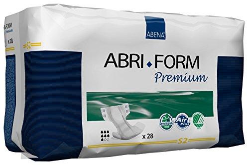 Abena Abri-Form Premium Incontinence Briefs, Small, S2, 28 Count