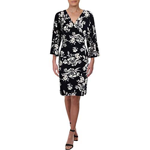 Lauren Ralph Lauren Women's Gali Kimono Floral Dress Lighthouse Navy/Colonial Cream/Multi 12
