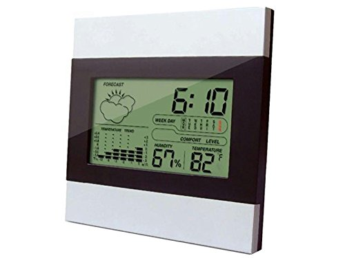 Yutaoz LCD Digital Indoor Humidity Gauge Meter Sensor - Accurate Readings - Easy Installation (white)