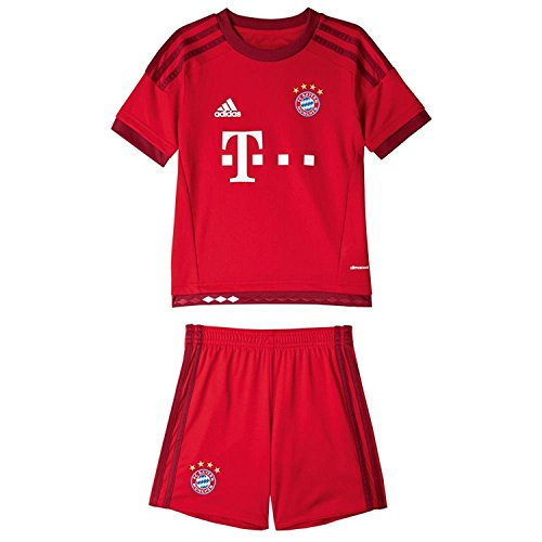Adidas Mini Mesh Shorts - Adidas 2015/16 FC Bayern Munich Home Mini Kit [FCBTRU] (5T)
