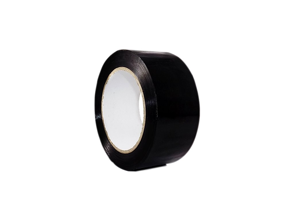 T.R.U. OPP-20C Black Carton Sealing Packaging Tape 3 in. wide x 110 yds. (2 mils thick)
