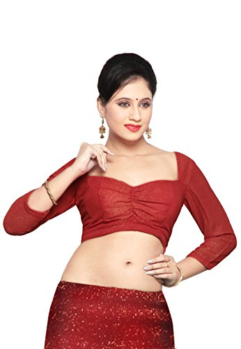 Utsav Fashion Shimmer Georgette Blouse in Red
