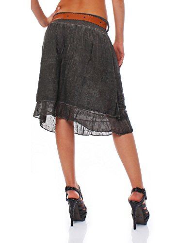 longues couches Tulle Taille 36 en ZARMEXX avec jupe lacets en jupe courte jupe Noir femmes 40 mi unique en coton ceinture regard dentelle 5w8Fqf