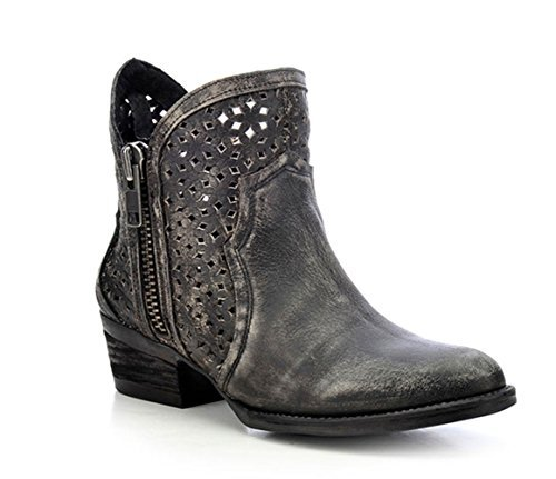 (CORRAL Women's Circle G Ankle Boot Cowhide Round Toe Boot)
