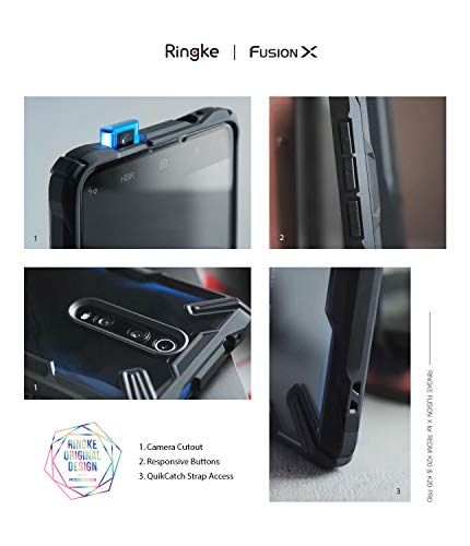 Ringke Fusion X Design Compatible with Xiaomi Mi 9T, Mi 9T Pro Case, Redmi K20, K20 Pro Case, Pocophone F2, F2 Pro Case Cover - Space Blue