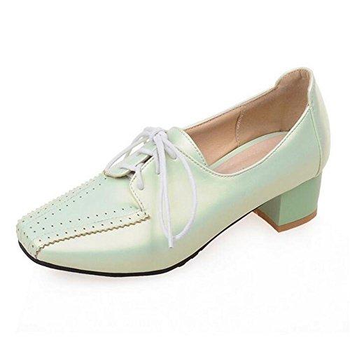 bajo Casual Ayudar Inclinados GREEN Blue 39 para 39 Corte para Zapatos Solo para Arriba a los XIE Mujer ásperos ata qtz0pS