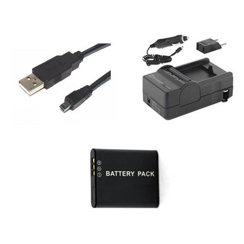 Pentax WG-3 GPS Digital Camera Accessory Kit includes: SDDLi92 Battery, SDM-192 Charger, USB8PIN USB Cable