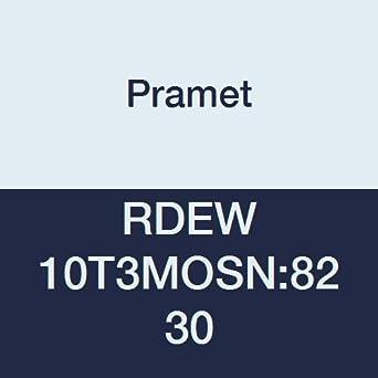 Flat Top Pack of 10 PVD Round Pramet RDEW 10T3MOSN:8230 Multi-Material Carbide Milling Insert P30,M30,K30 Gold