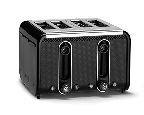 Dualit 46430 Studio 4-Slice Toaster, Black/Polished