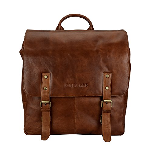 Finelaer Vintage Brown Laptop Backpack Daypack Rucksack Travel Hiking Bag Men Women by FINELAER