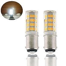 Bonlux Ba15d Double Contact Bayonet Base LED Light Bulbs 120 Volts 4 Watts 350lm T3/T4/C7/S6 LED Halogen Replacement Bulb (2, Cold White)