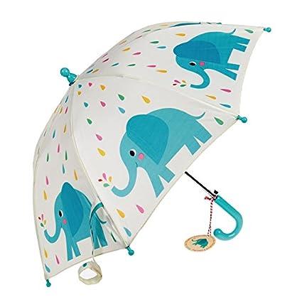 Los niños de la primavera Cargado paraguas – elección de diseño multicolor Elvis The Elephant